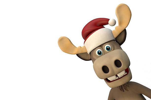 Lustige Weihnachtsmotive Clipart.Clip Art Of A Moose Stock Photos Pictures Royalty Free Images