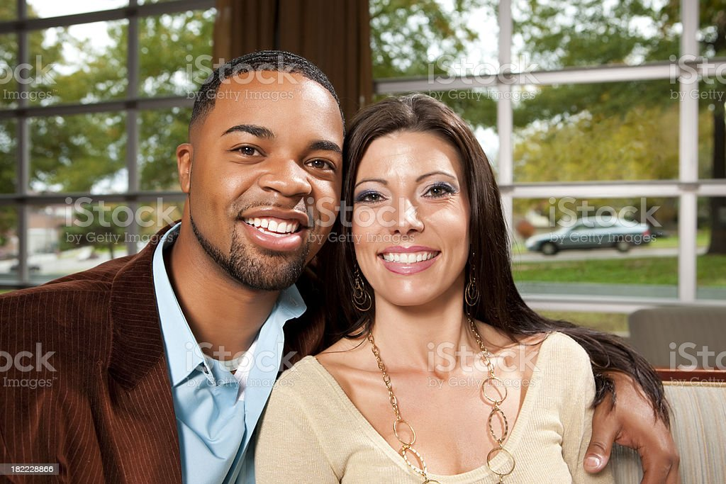 Cute Multi-Racial Couple royalty-free stock photo