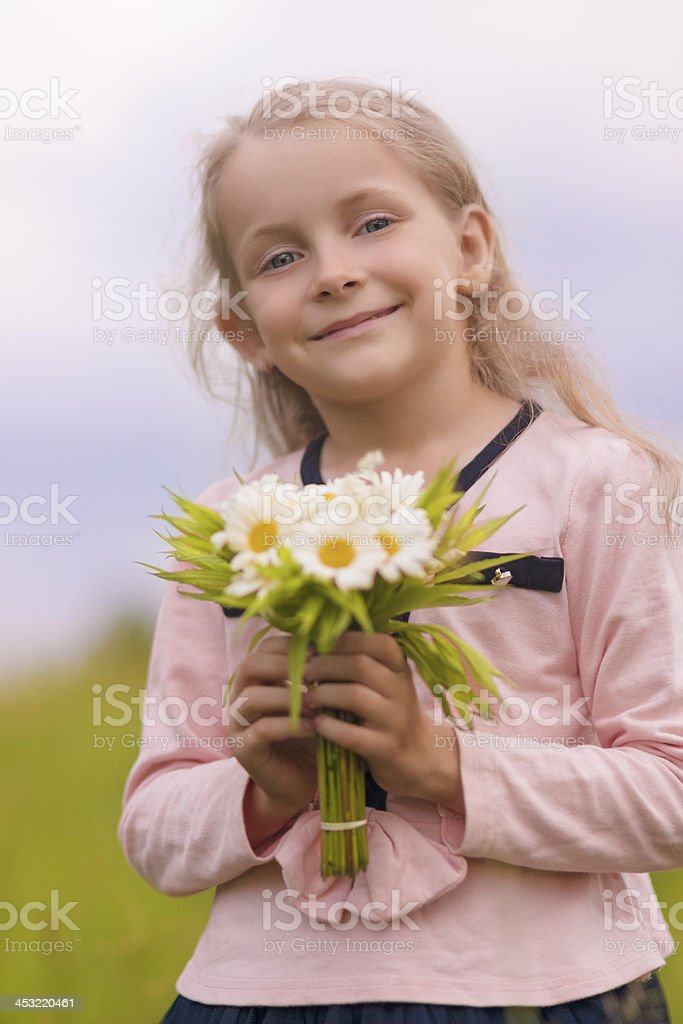 cute natural portrait of young little girl smiling royalty-free stock photo