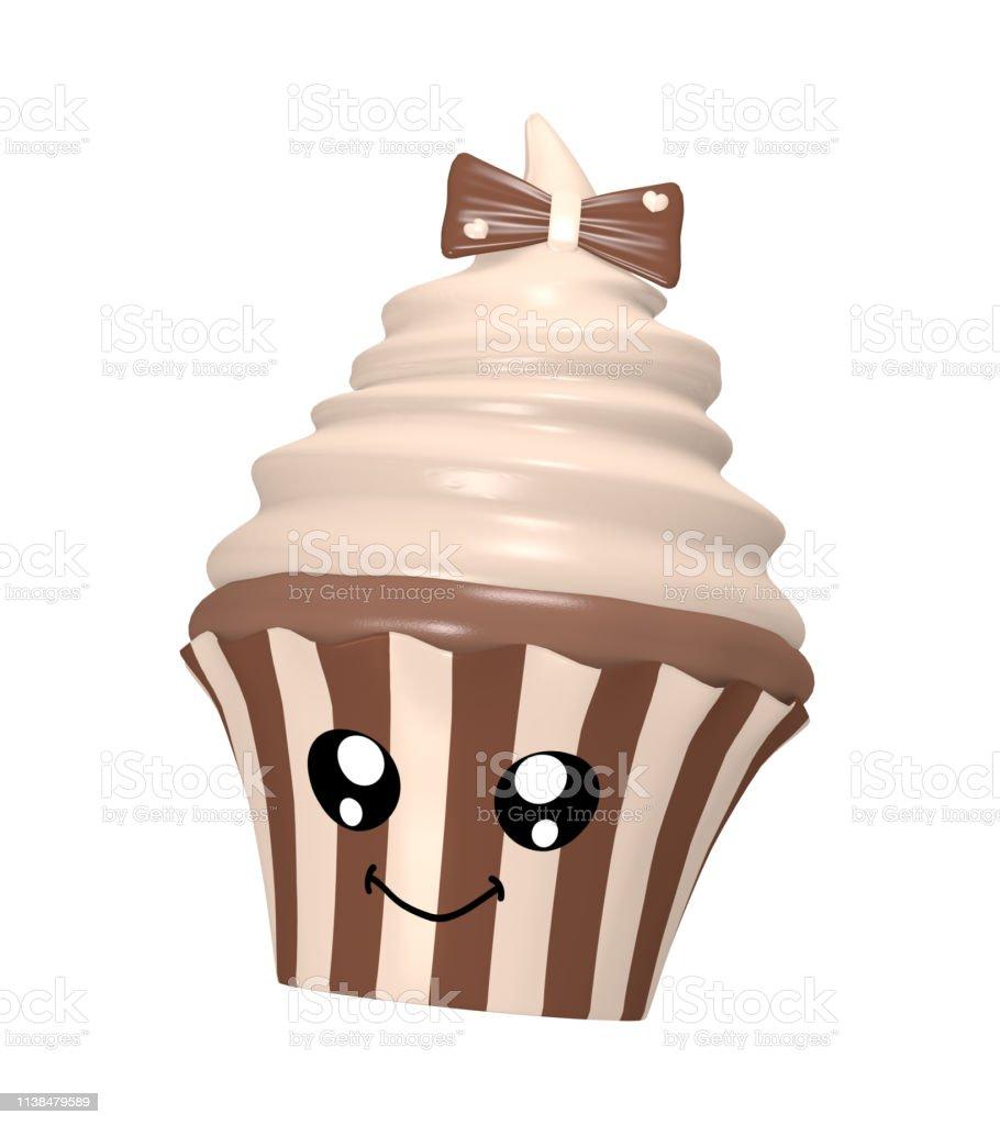 Nüchnierte Nougat Cupcake – Foto