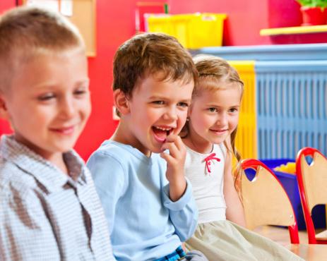 Cute Nursery School Children Stock Photo - Download Image Now