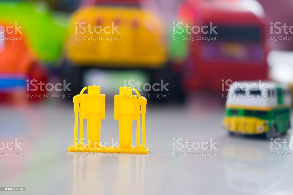 Lindo Coloreado La Gasolinera Plástico Foto Stock De Juguete Y CtdsQhrx