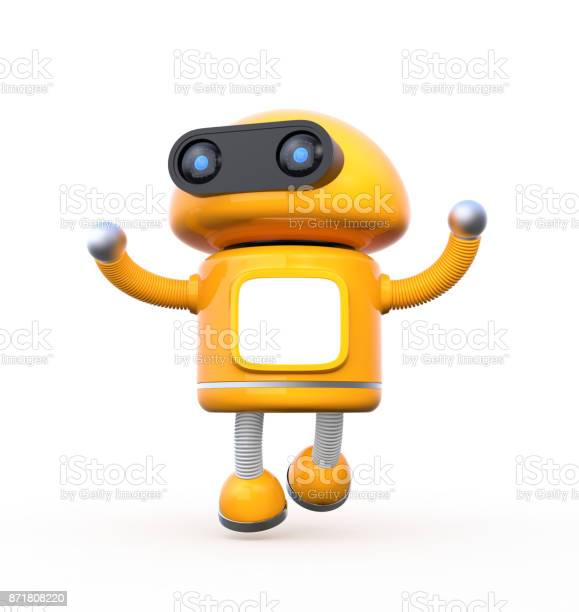 Cute orange robot with blank monitor is dancing on white background picture id871808220?b=1&k=6&m=871808220&s=612x612&h=azwnjpbj eklzaxe1 9roztn3j88lldglhlgkegnlb0=