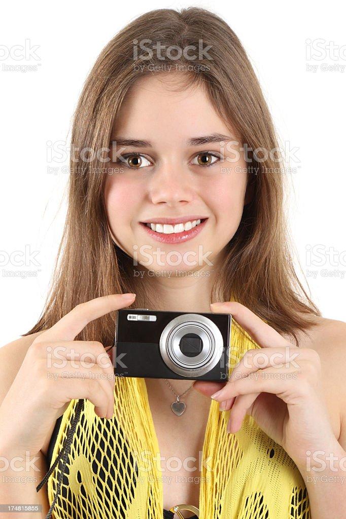 Cute photographer royalty-free stock photo