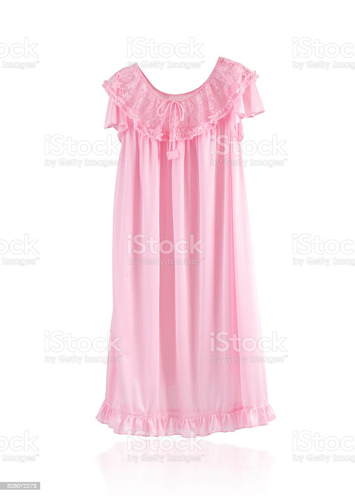 Cute pink sleepwear stock photo