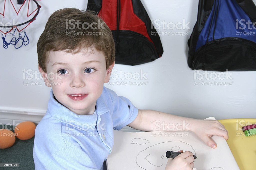 Cute Preschool Boy stock photo