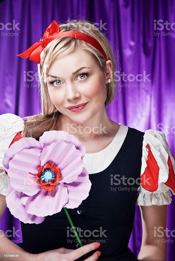 Cute princess stock photo