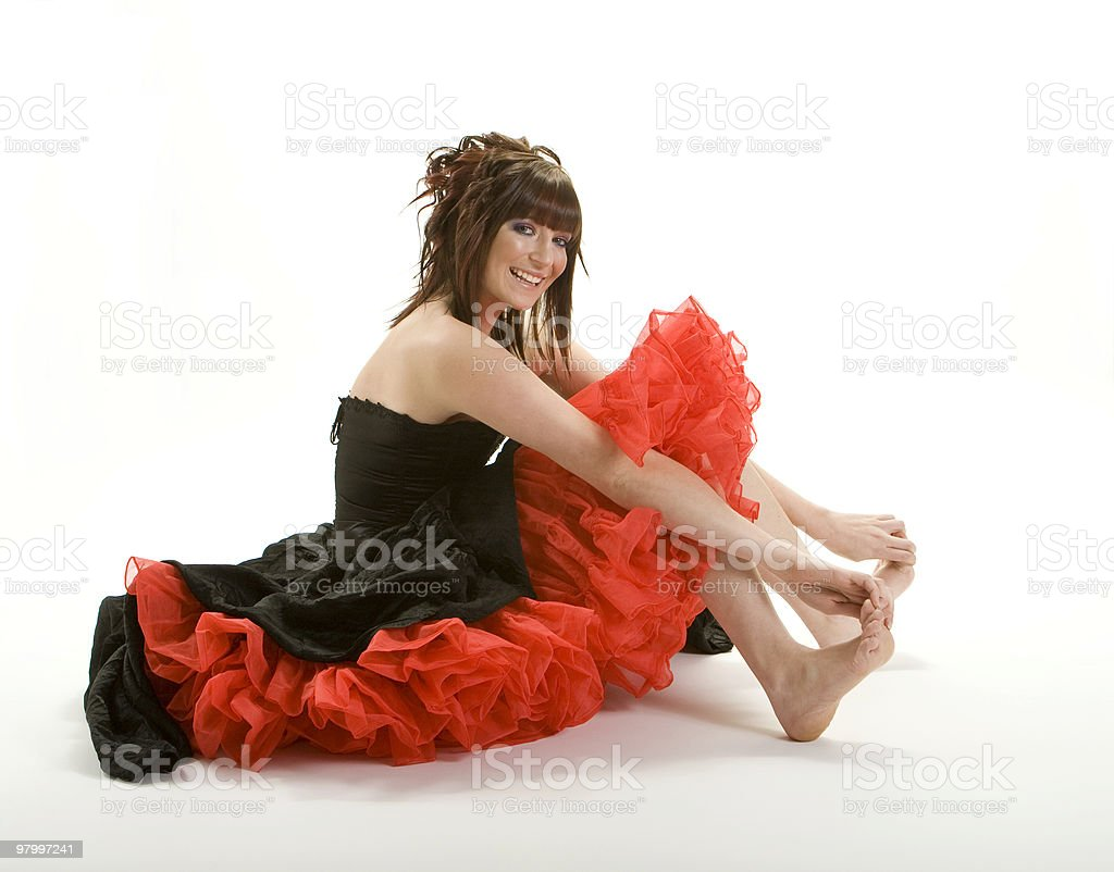 Cute Prom Girl royalty-free stock photo