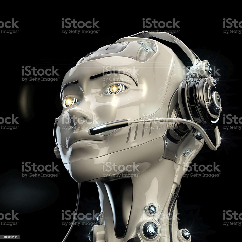 Cute robotic operator royalty-free stock photo