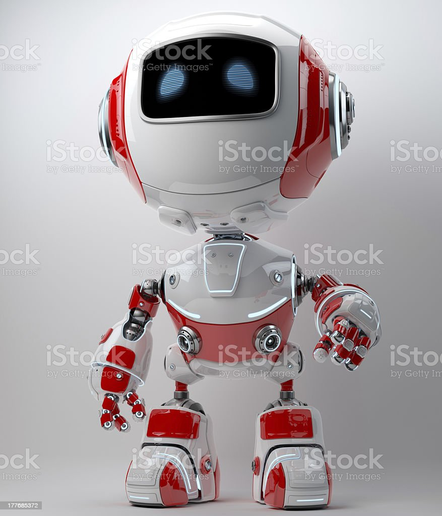 Cute robotic toy royalty-free stock photo
