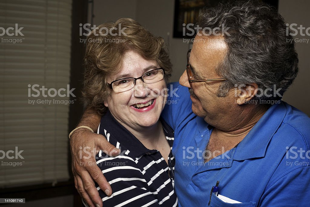 Cute Romantic Middle Aged Couple stock photo