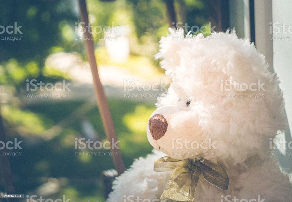 Cute sad Teddy bear royalty-free stock photo