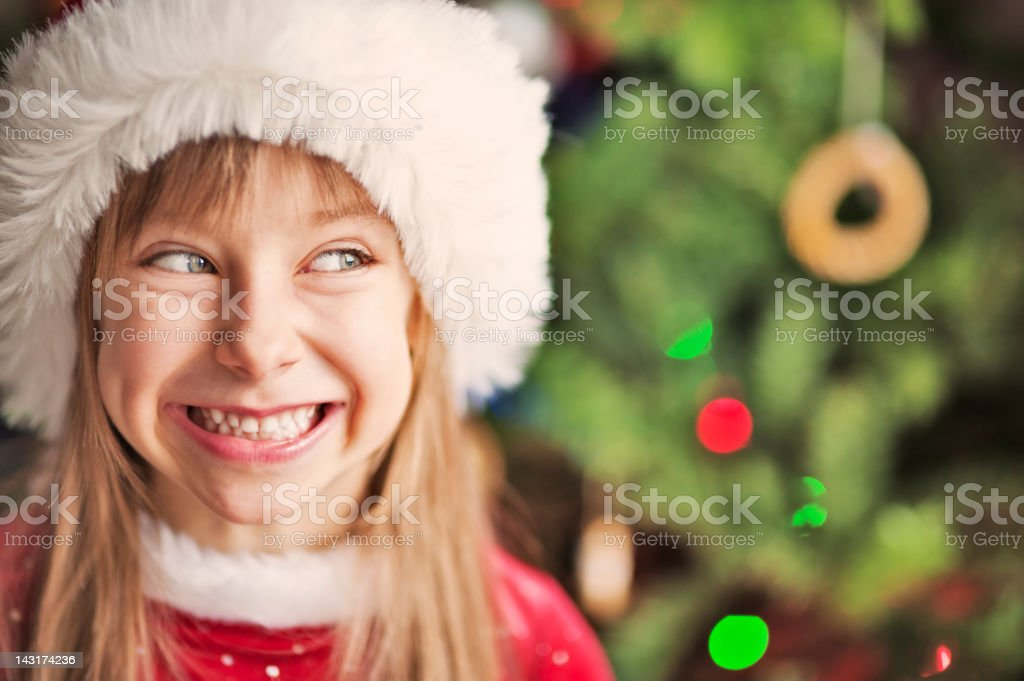 Cute santa helper royalty-free stock photo