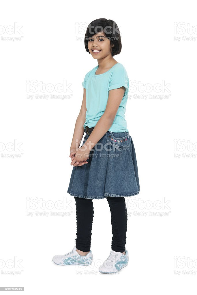 Cute Schoolgirl In Casuals royalty-free stock photo