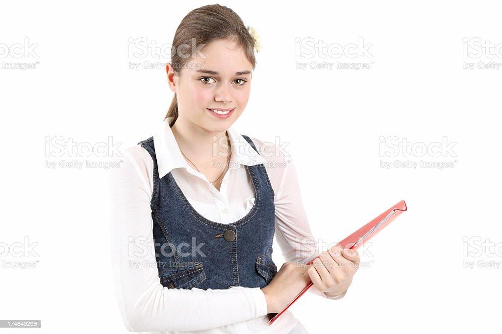 Cute schoolgirl royalty-free stock photo