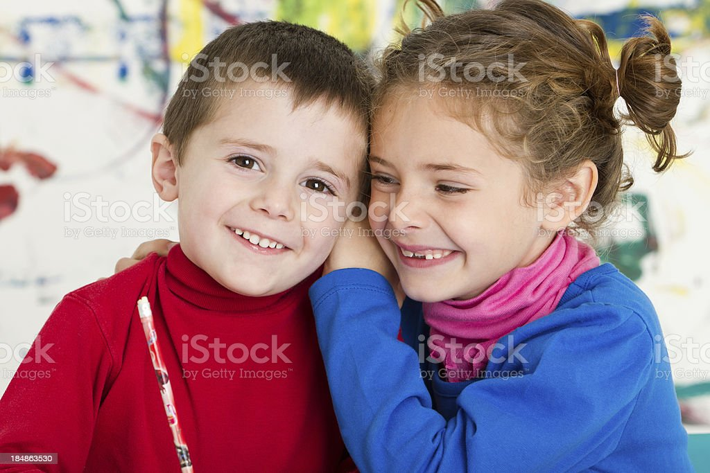 Cute secret royalty-free stock photo