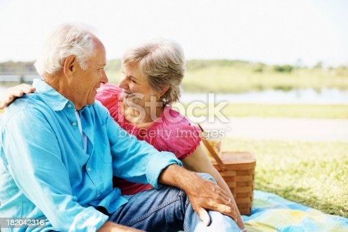 510491454 istock photo Cute senior couple looking at each other 182042316