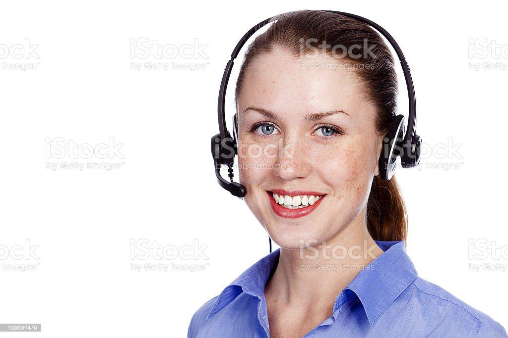 Cute service operator woman royalty-free stock photo