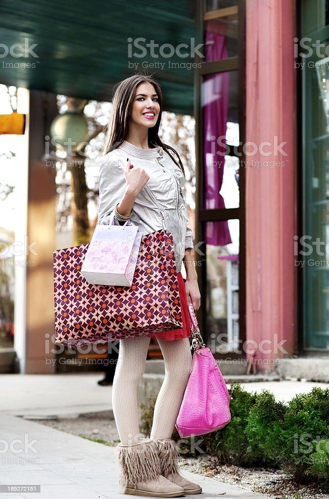 Cute Shopper royalty-free stock photo