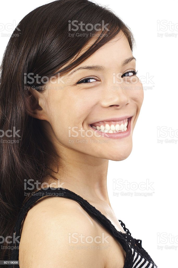 Cute smiling asian woman royalty-free stock photo