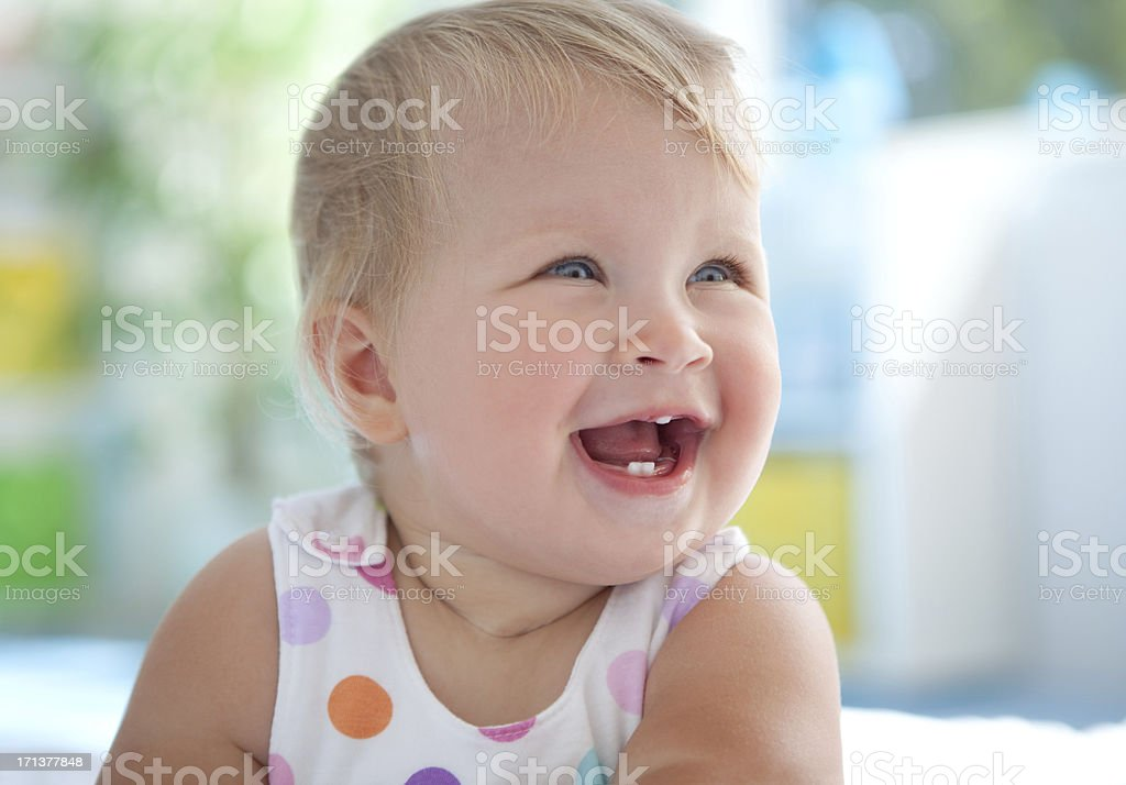 Cute smiling baby. royalty-free stock photo
