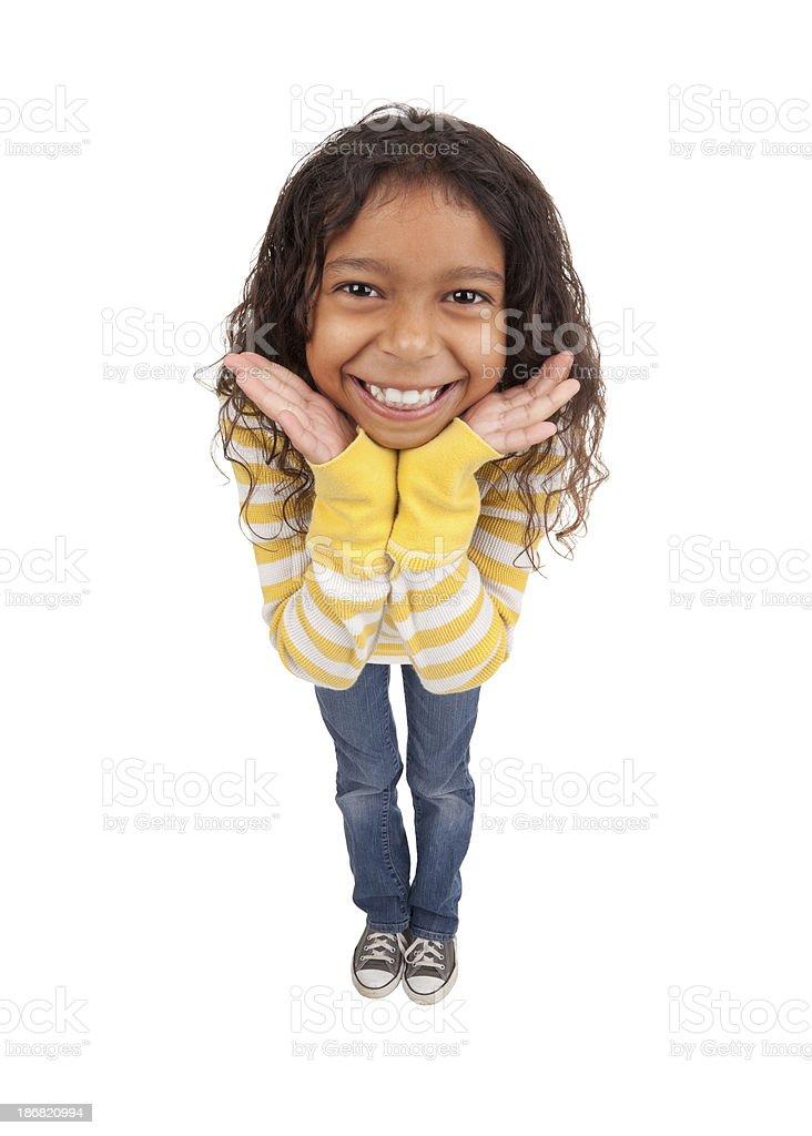Niedliche lächelnd junges Mädchen – Foto