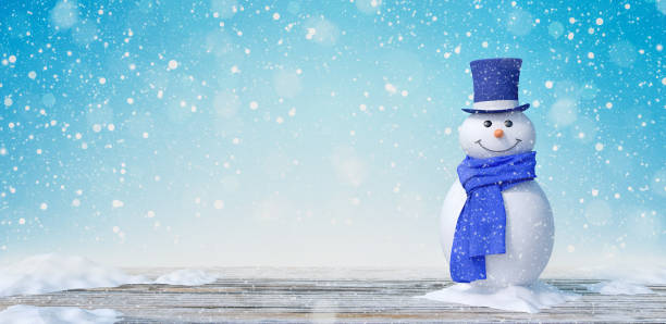 Cute Snowman In Winter Landscape 3d render Cute Snowman In Winter Landscape 3d render 3d illustration snowman stock pictures, royalty-free photos & images