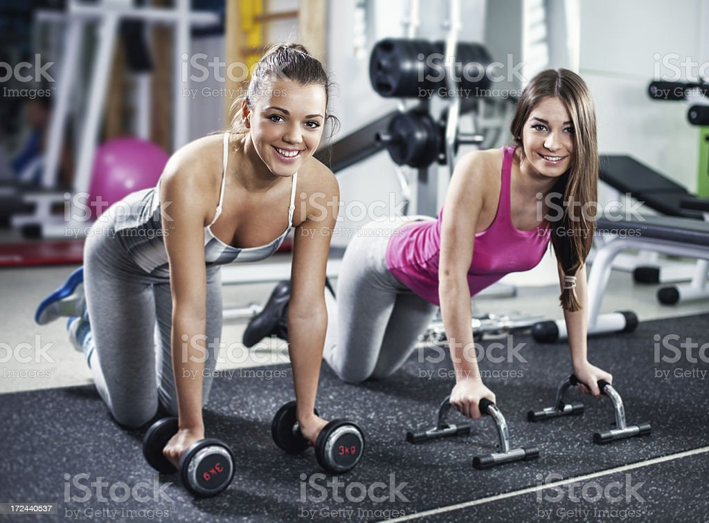 Cute Sporty girls royalty-free stock photo