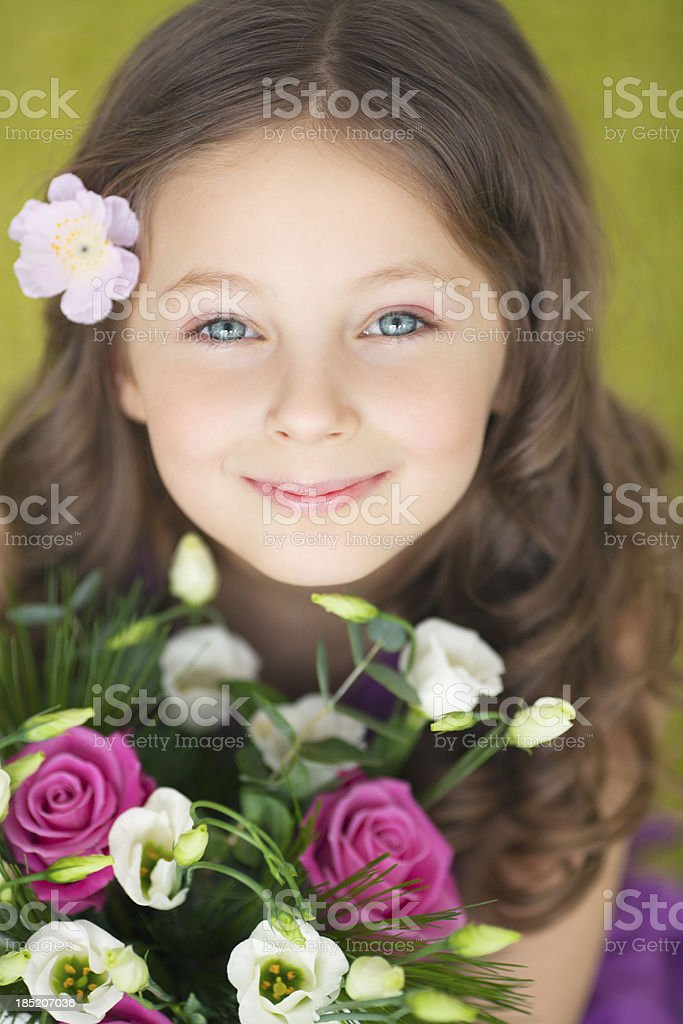 Cute spring girl. royalty-free stock photo
