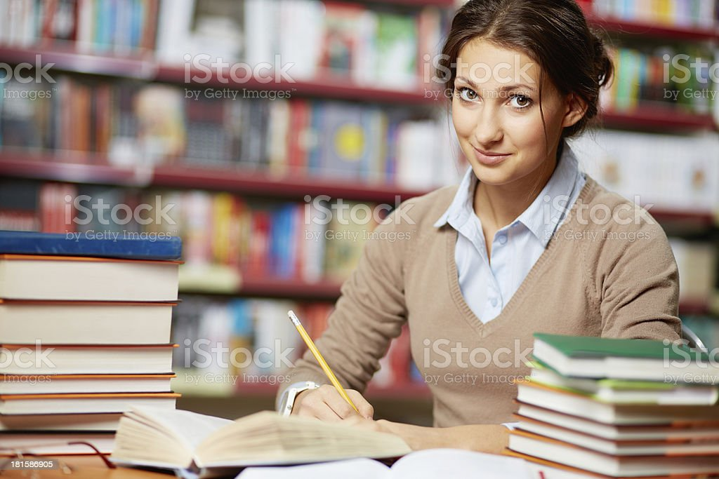 Cute student royalty-free stock photo