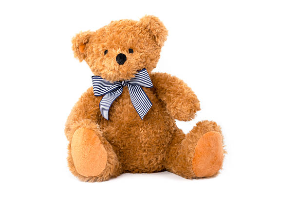 cute teddy bear isolated on white background - teddy bear stock photos and pictures