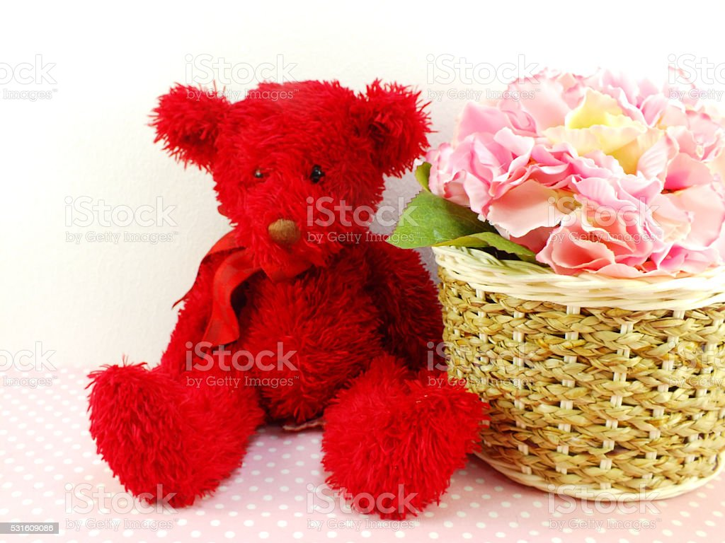 Teddy bear wallpaper beautiful cool hd pictures wallpapers cute teddy bear with gift and beautiful bouquet flower royalty free stock photo izmirmasajfo