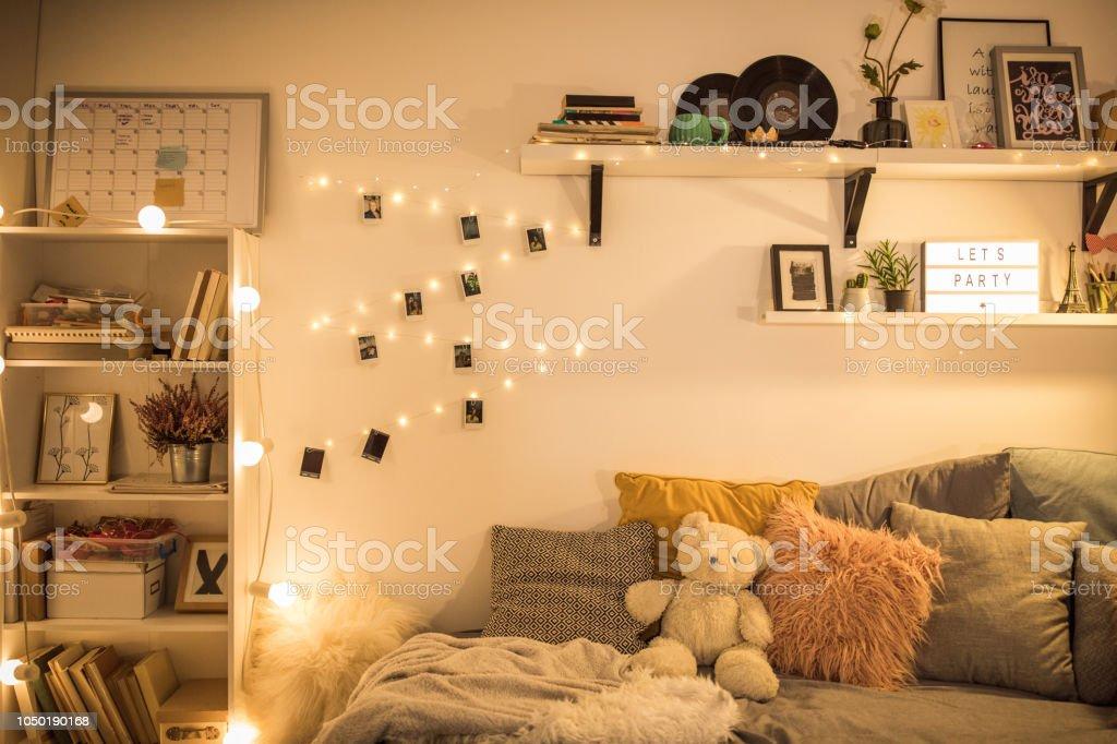 Bed - Furniture, Bedroom, College Dorm, Domestic Room, Dorm Room