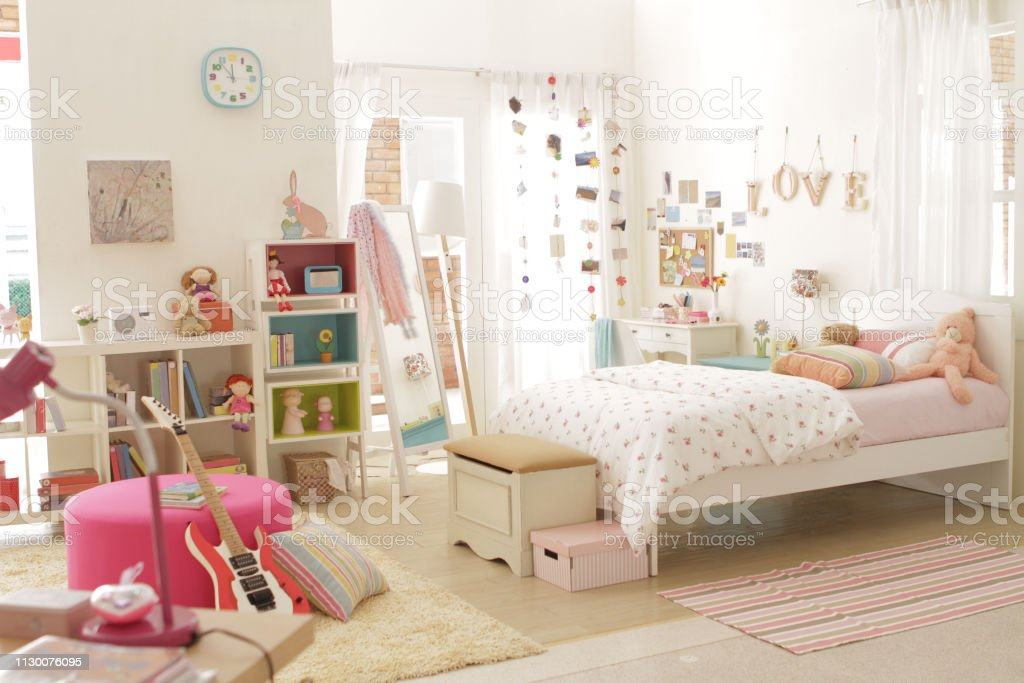 Cute Teen Girl Bedroom With Decoration 2 Stock Photo Download Image Now Istock