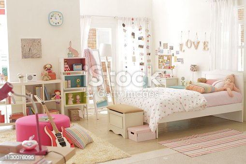 istock cute teen girl bedroom with decoration 2 1130076095