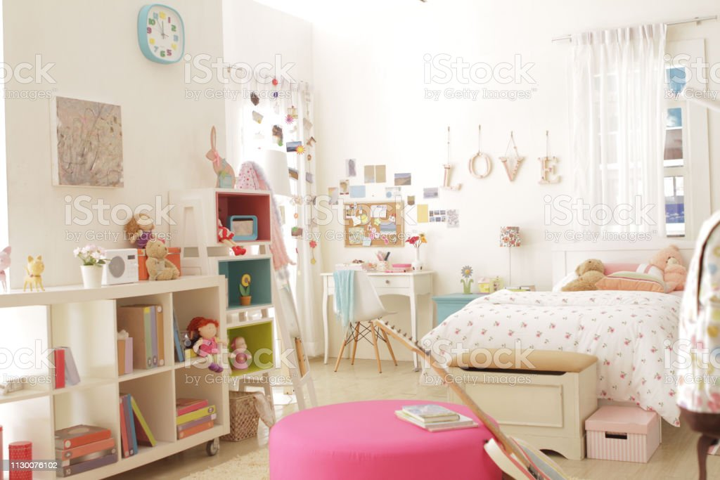 Cute Teen Girl Bedroom With Decoration 3 Stock Photo Download Image Now Istock
