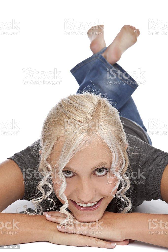 Симпатичная Teen Девушка улыбающегося стоковое фото