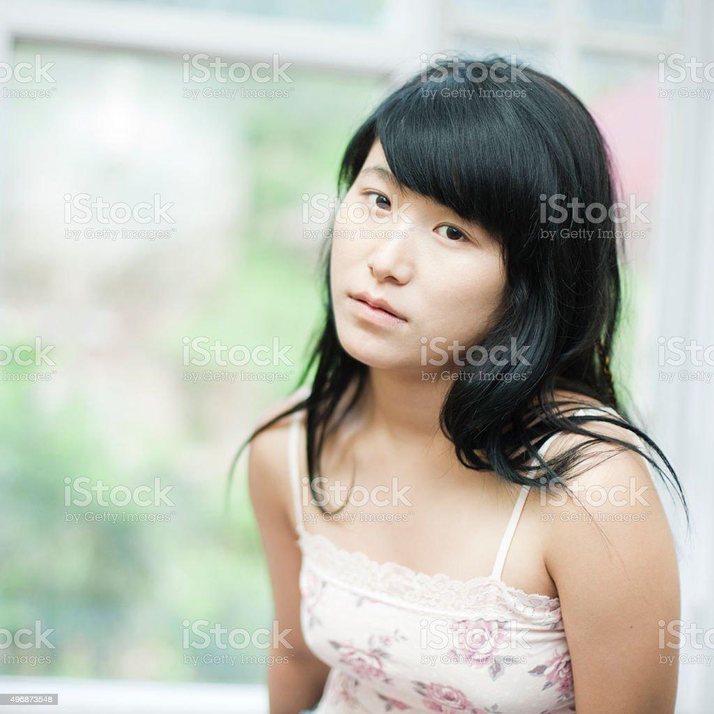 An asian teen slut