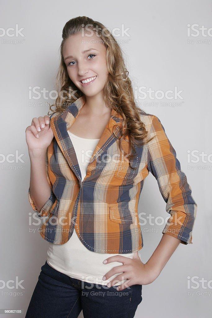 Cute teenage girl royalty-free stock photo