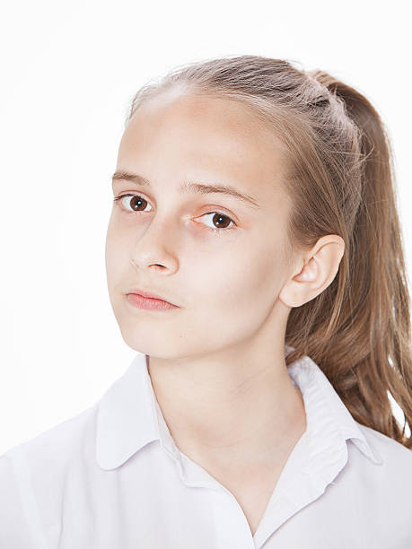 Cute teenager girl with stock photo