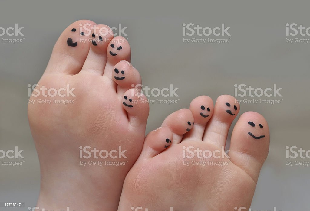 Cute Toes stock photo