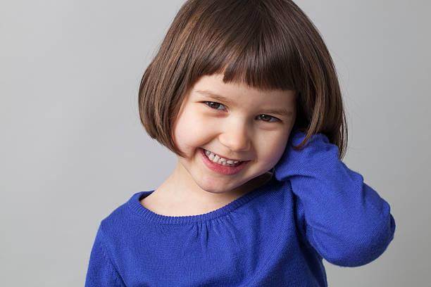 Süße Offenes Lächeln in 4 Jahren – Foto