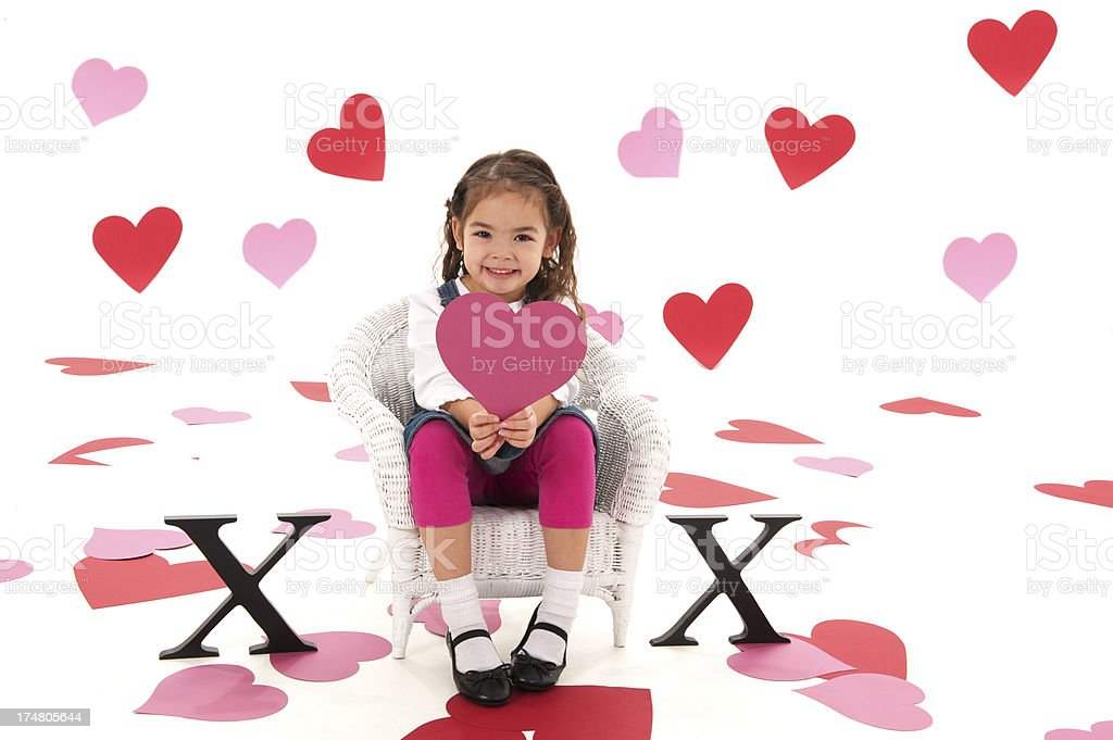 Cute Valentines Kid royalty-free stock photo