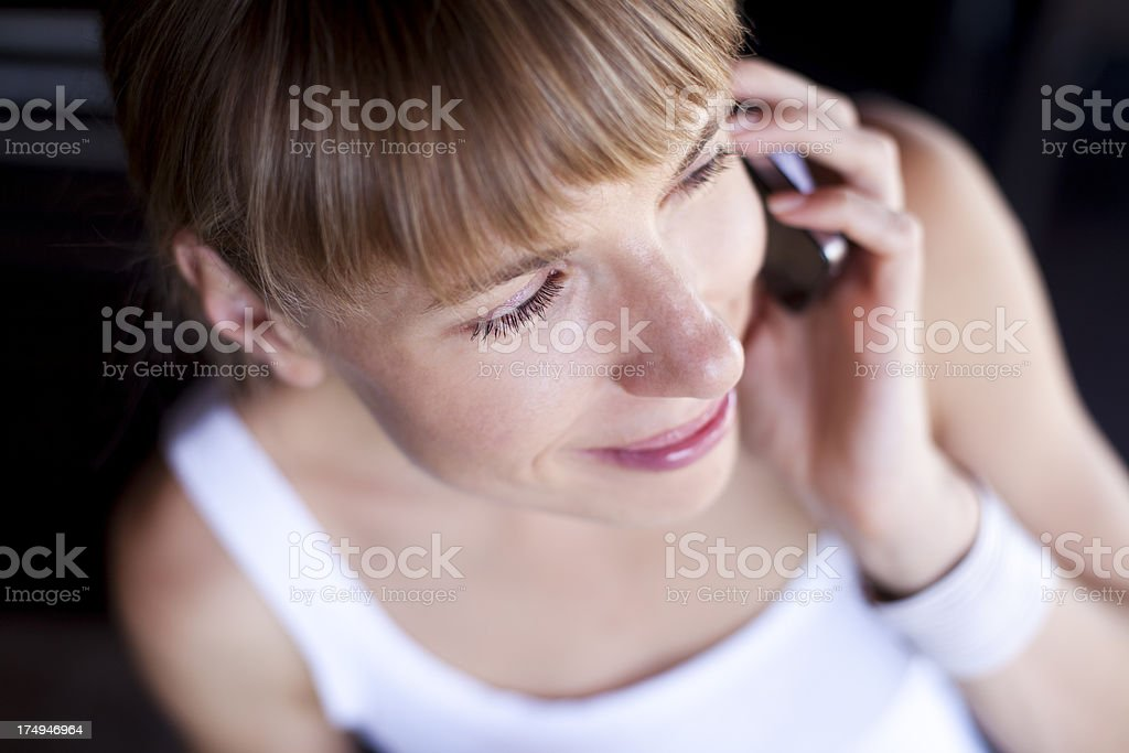Cute Woman On The Phone royalty-free stock photo