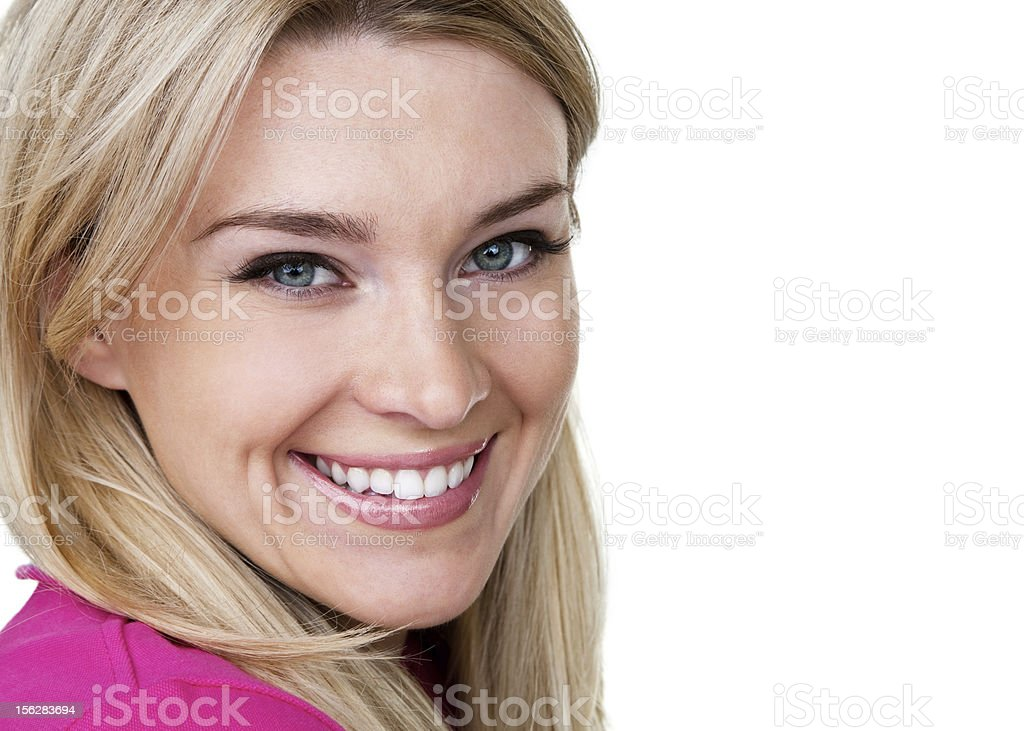 Cute woman with a cheerful expression stock photo