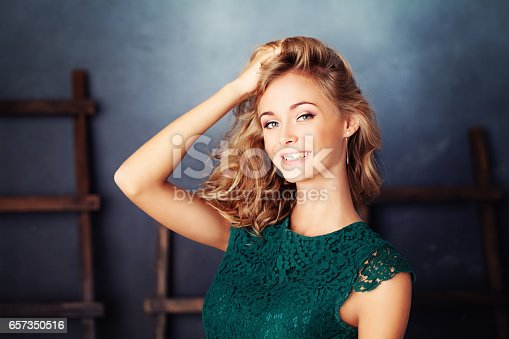 istock Cute Woman with Blonde Hair. Young Face 657350516