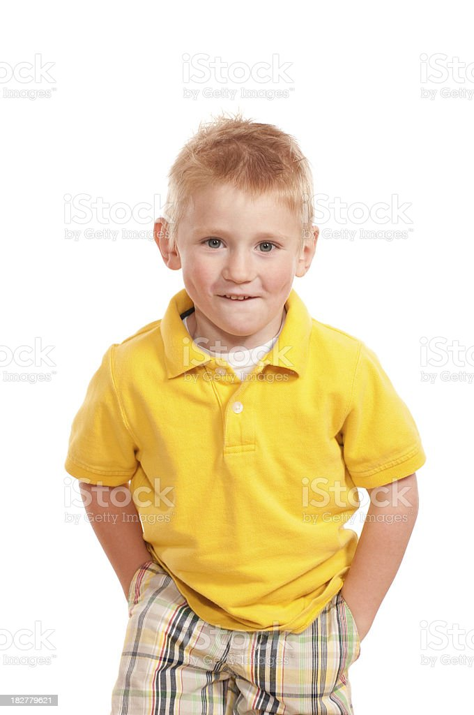 Cute Yellow Boy royalty-free stock photo