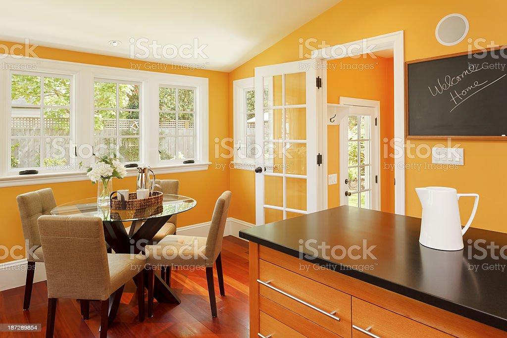 Cute Yellow Kitchen stock photo