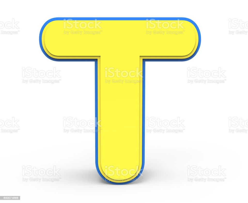 Cute Yellow Letter T Stock Photo More Pictures Of Alphabet Istock