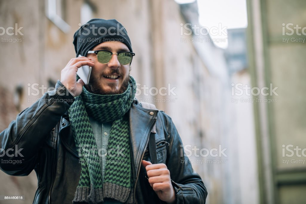 c7af53722b9 Cute Young Bearded Man Stock Photo   More Pictures of Adult